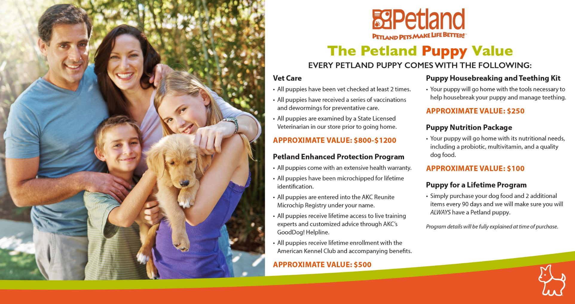 The Petland Puppy Value Package